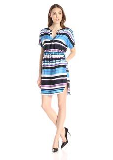 Adrianna Papell Women's Print Dolman Sleeve Dress