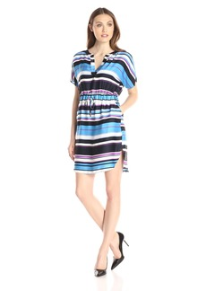 Adrianna Papell Women's Print Dolman Sleeve Dress