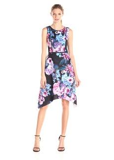 Adrianna Papell Women's Print Floral Scuba Dress
