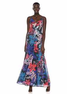 Adrianna Papell Women's Print Sequin Dress