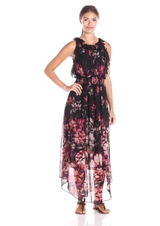 Adrianna Papell Women's Printed Chiffon Maxi Dress