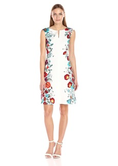 Adrianna Papell Women's Printed Jaquard Fit and Flare