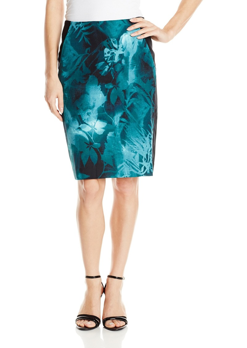 Adrianna Papell Women's Printed Pencil Skirt