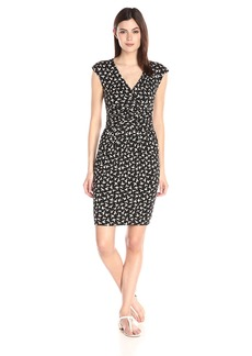 Adrianna Papell Women's Printed Scoop Neck Dress