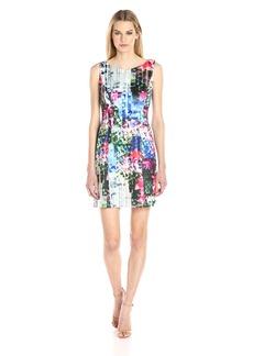 Adrianna Papell Women's Printed Scuba a-Line Dress