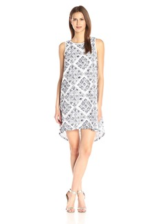 Adrianna Papell Women's Prnt Emb Eyelet Dress
