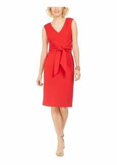Adrianna Papell Women's Rio Knit TIE Sheath Dress HOT Tomato