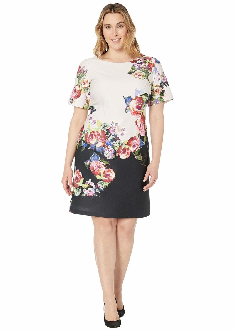 Adrianna Papell Women's Rose Printed A-LINE Dress