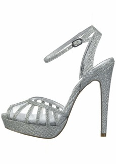Adrianna Papell Women's Saida Pump Silver Jimmy net  M US