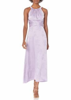 Adrianna Papell Women's Satin Jacquard MIDI Dress