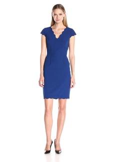Adrianna Papell Women's Scalloped Detail Sheath Dress