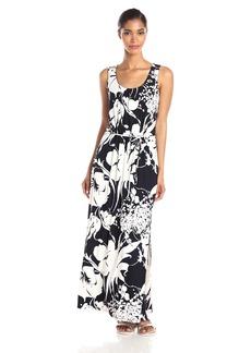 Adrianna Papell Women's Scoop Neck Maxi Dress