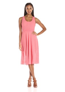 Adrianna Papell Women's Scoop Nk Handkerchief Dress  Medium