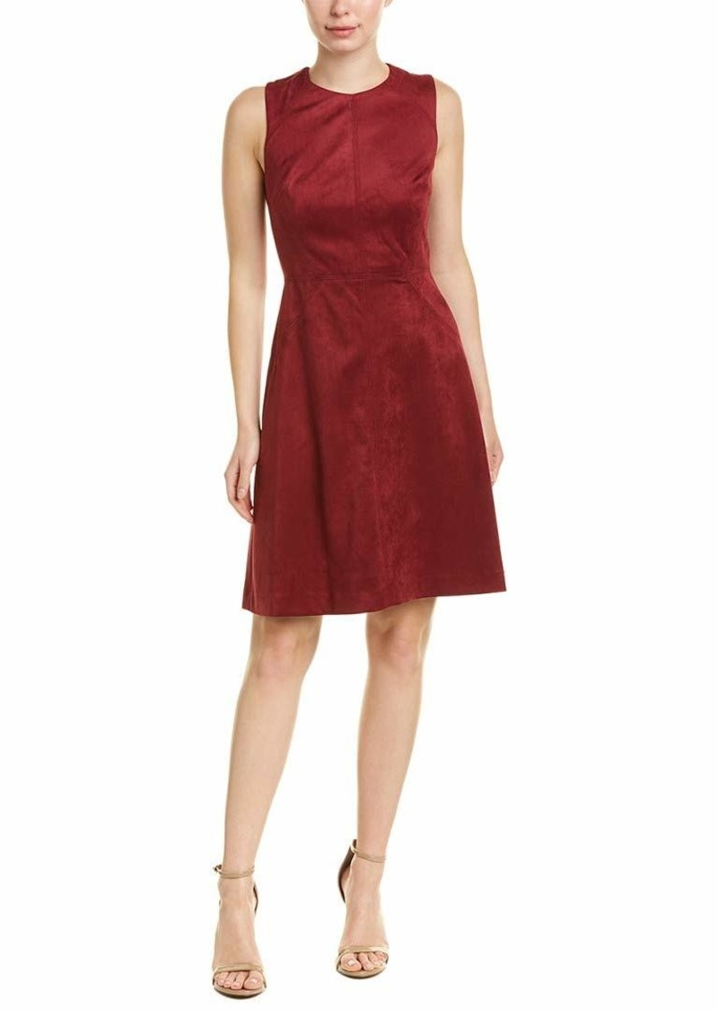 Adrianna Papell Women's Scuba Suede Fit and Flare Dress