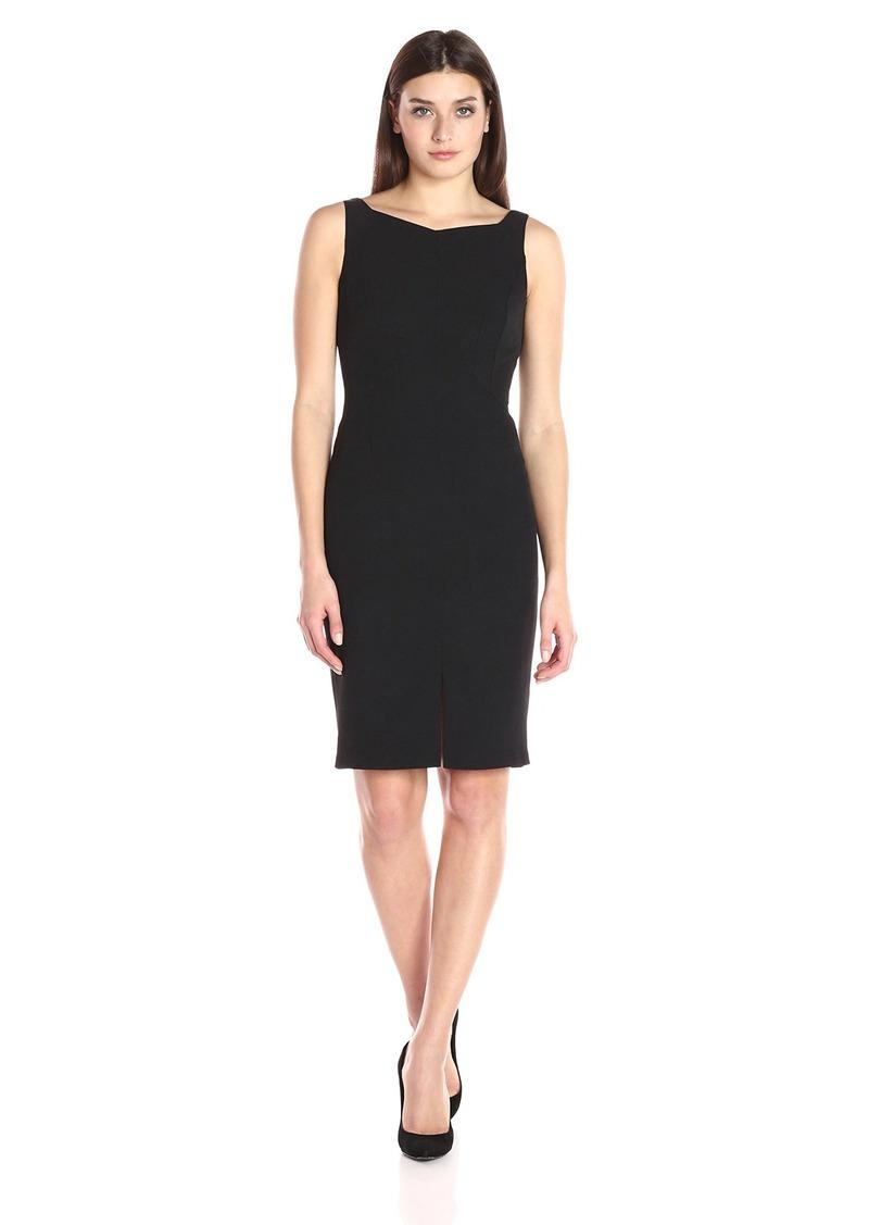 Adrianna Papell Women's Seamed Sleeveless Sheath Dress