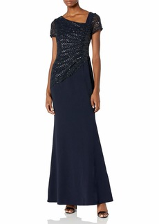 Adrianna Papell Women's Sequin Crepe Dress