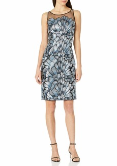 Adrianna Papell Women's Sequin Embroidered Dress