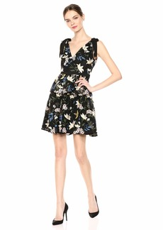 Adrianna Papell Women's Sequin Embroidery Dress