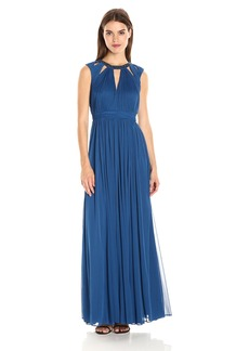 Adrianna Papell Women's Shirred Necklace Dress
