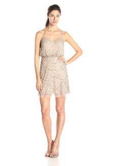 Adrianna Papell Women's 041868910 Dress -taupe/pink