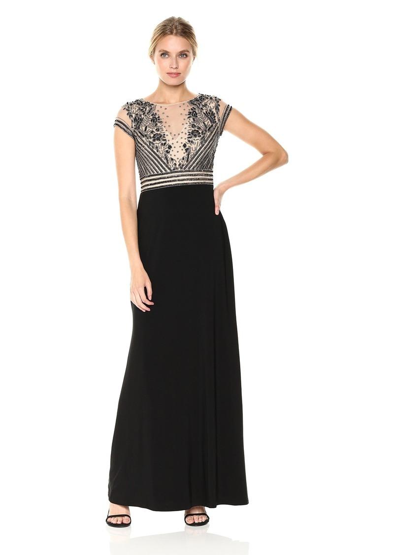 Adrianna Papell Adrianna Papell Women\'s Short Sleeve Beaded Dress ...