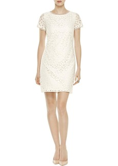 Adrianna Papell Women's Short Sleeve Lace Shift