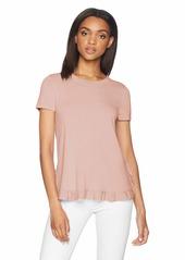 Adrianna Papell Women's Short Sleeve Ruffle Sweater  XSmall