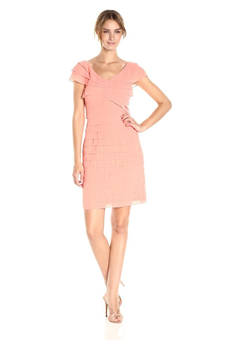 Adrianna Papell Women's Shutter Pleat Dress
