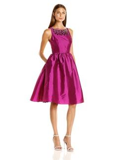 Adrianna Papell Women's Sleeveles Tafta Mid Length Party Dress