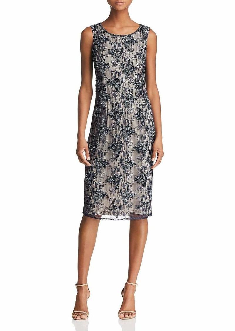 Adrianna Papell Women's Sleeveless Beaded Cocktail Dress