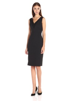 Adrianna Papell Women's Sleeveless Bodycon Ottoman and Lace Dress