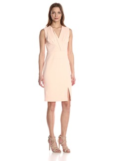 Adrianna Papell Women's Sleeveless Cf Fold Fitted DRS