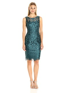 Adrianna Papell Women's Sleeveless Guipure Cocktail Dress