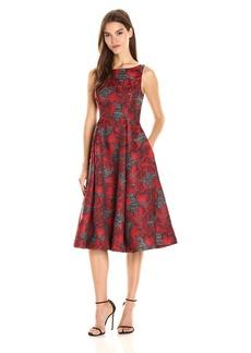 Adrianna Papell Women's Sleeveless Jacquard Cocktail Dress