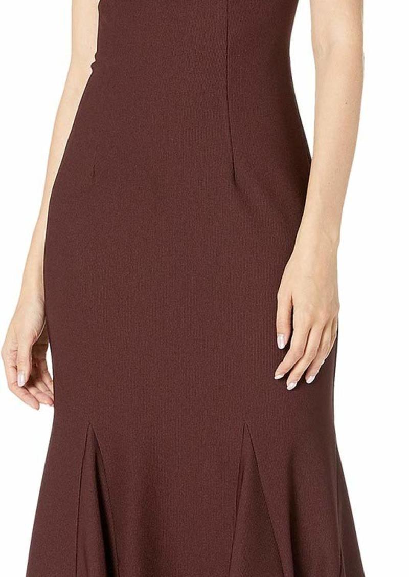 Adrianna Papell Women's Sleeveless Knit Modern Sheath Dress BlackBerry Wine