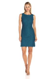 Adrianna Papell Women's Sleeveless Lace Cocktail Dress