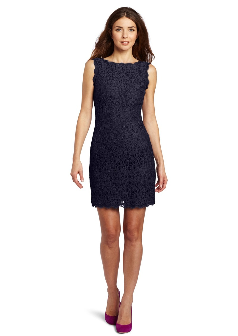 Adrianna Papell Women's Sleeveless Lace Dress