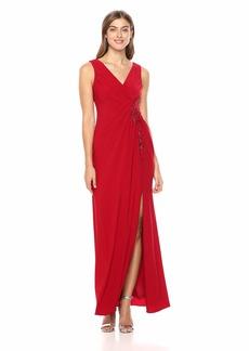 Adrianna Papell Women's Sleeveless Matte Jersey Dress with Mermaid Skirt