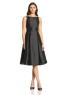 Adrianna Papell Women's Sleeveless Mid-Length Party Dress with V-Back