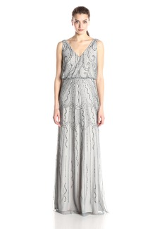 Adrianna Papell Women's Sleeveless V-Neck Blouson Gown