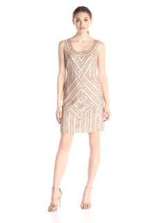 Adrianna Papell Women's Sleeveless Scoop Neck Short Dress