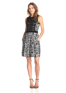 Adrianna Papell Women's Sleeveless Skater Dress