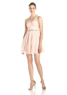 Adrianna Papell Women's Sleeveless Tulle Party Dress