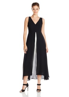 Adrianna Papell Women's Sleeveless V Neck Culotte Jumpsuit