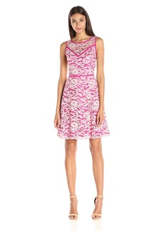 Adrianna Papell Women's Sleeveless Fit-And-Flare Dress
