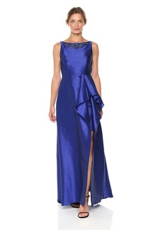 Adrianna Papell Women's Sleevless Long Irredescent Gown
