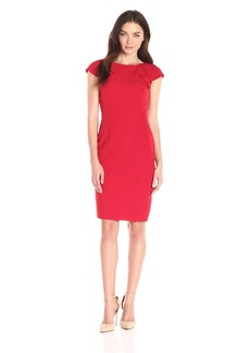 Adrianna Papell Women's Solid Origami Sheath Dress
