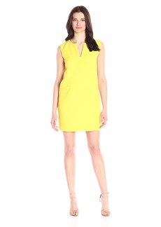 Adrianna Papell Women's Solid Pique Sleeveless Dress