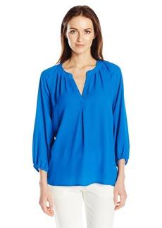 Adrianna Papell Women's Solid Raglan Sleeve Blouse  L