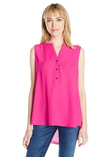 Adrianna Papell Women's Solid Sleeveless Equipment Shirt  S